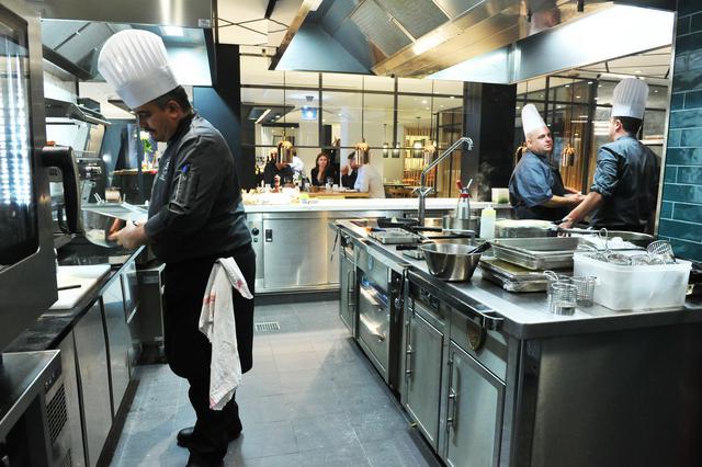 Cuisine ouverte Brasserie Bleue